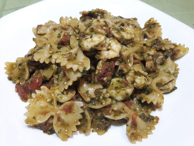 Pasta Pesto e Gamberetti