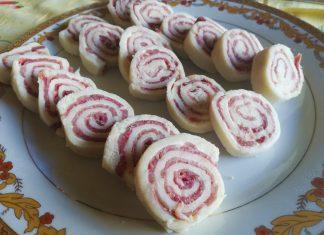Girelle di Tramezzini al Salame