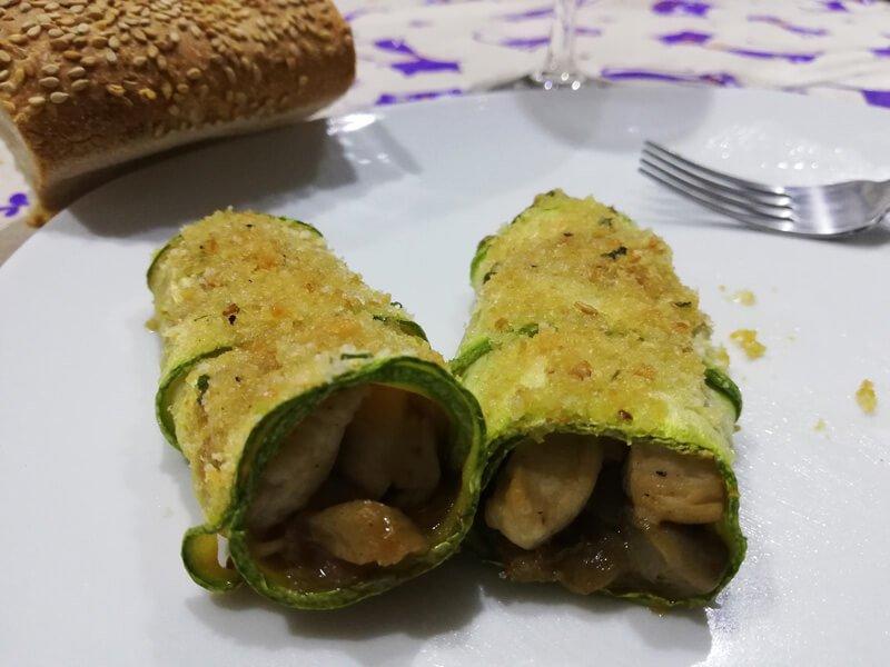 Involtini di Zucchine Ripieni di Pollo