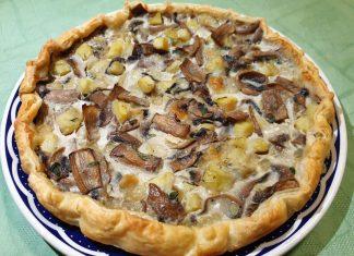 Torta Salata Funghi e Patate