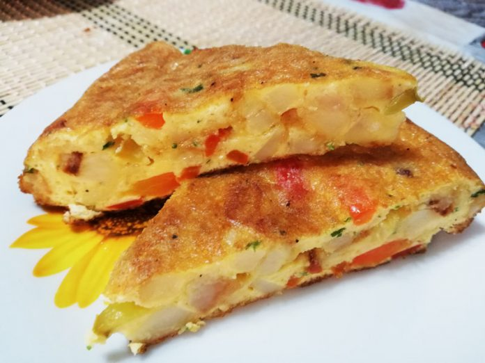 Frittata Patate e Peperoni
