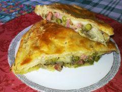 Torta Salata con Carciofi e Piselli