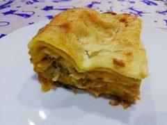 Lasagne Zucca Funghi e Salsiccia