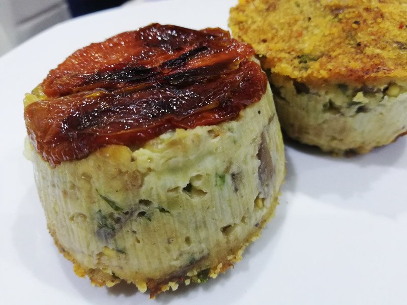 Tortino di Melanzane con Pomodori Secchi