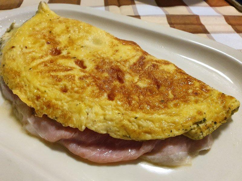 Omelette al Forno con Prosciutto e Formaggio