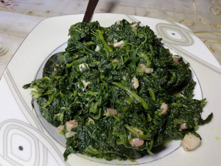 Spinaci in Padella con Pancetta