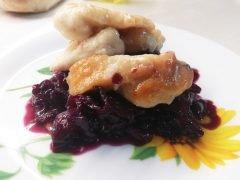 Pollo con Cavolo Viola in Agrodolce