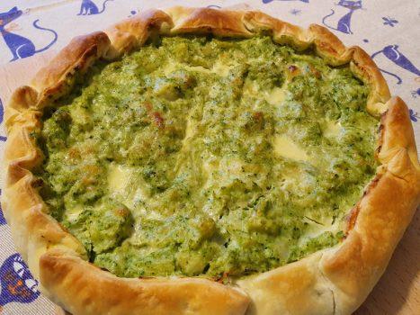 Torta Salata con Broccoli e Cavolfiore