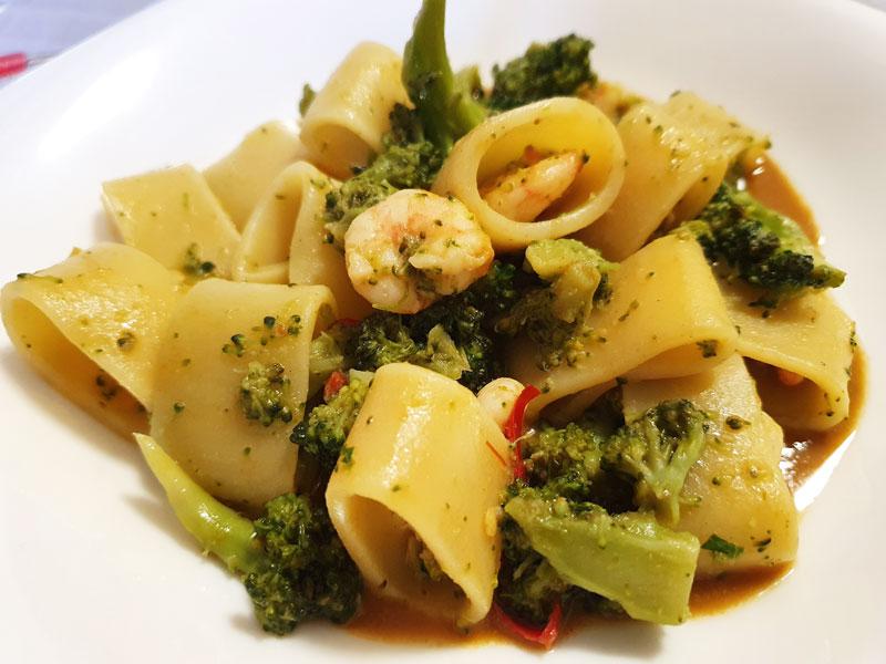 Paccheri Broccoli e Gamberi