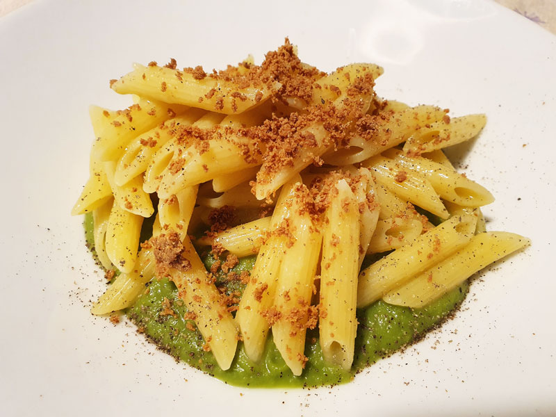 Pasta con Bottarga e Vellutata di Broccoli