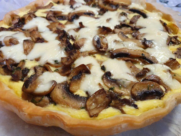 Torta Salata Funghi e Taleggio