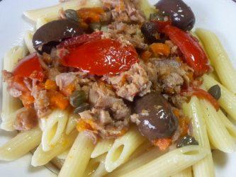 Pasta Tonno Olive e Pomodorini