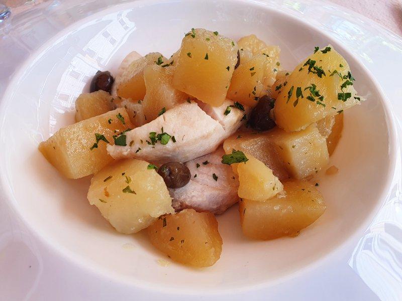 Ricciola con patate