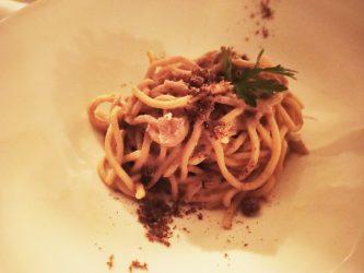 Spaghetti bottarga e limone