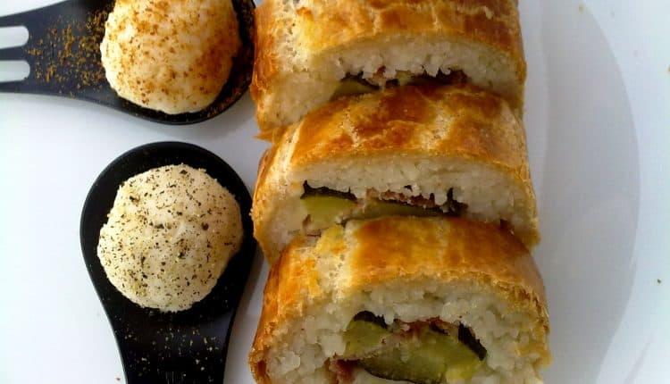 Sushi in crosta di sfoglia con zucchine al vapore e speck - Inviata da Matteo Ghigino